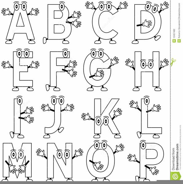 Clipart Lettere Alfabeto Da Colorare Free Images At Clkercom