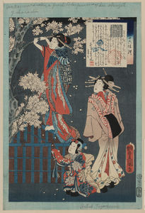 Tale Of The Lady Wakamurasaki. Image