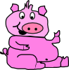 Laughing Pig 2 Clip Art