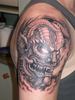 Demon Samurai Tattoo Image