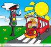 Red School Bus Clipart Image