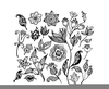 Black And White Rose Clipart Image