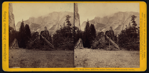 South Dome, And Piute Indian Cashes, Or Storehouses For Acorns Image