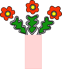 Flowers In Vase Clip Art