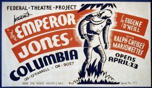 The Emperor Jones  By Eugene O Neill With Ralph Chesse S Marionettes Image