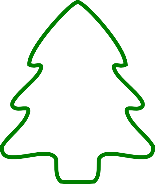 504 x 598 · 25 kB · png, Christmas Tree Outline Clip Art