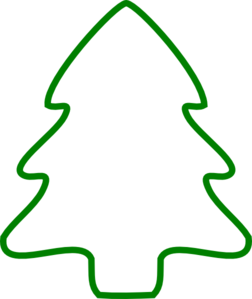 Green Christmas Tree Outline Clip Art