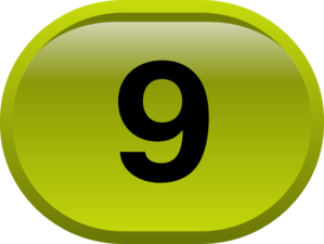 Button For Numbers 9 Clip Art