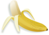 Pealed Banana Clip Art
