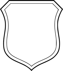 Blank White Shield Clip Art