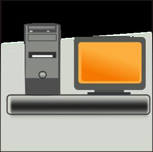 Desktop Computer clip art - vector clip art online, royalty free ...