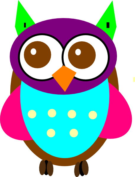 colorful baby owl clip art at clker com vector clip art online rh clker com cute colorful owl clipart cute colorful owl clipart