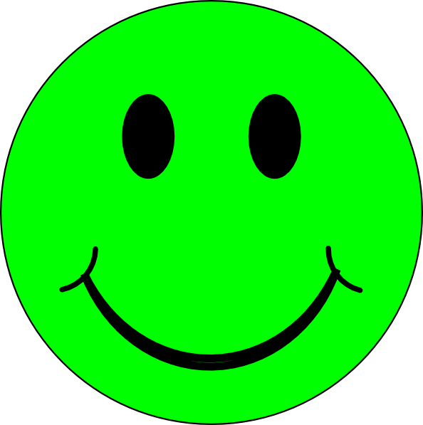 happy green face clip art at clkercom vector clip art