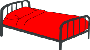 Bed Red Clip Art at Clker.com - vector clip art online ...