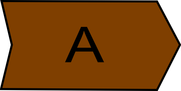 Arrow With An A Brown Clip Art at Clker.com - vector clip ...