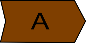 Arrow With An A Brown Clip Art