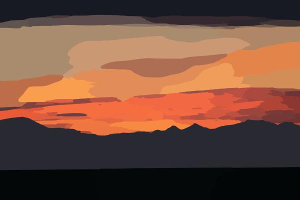 pin house cartoon sunset - photo #9