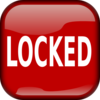 Red Locked Square Button Clip Art