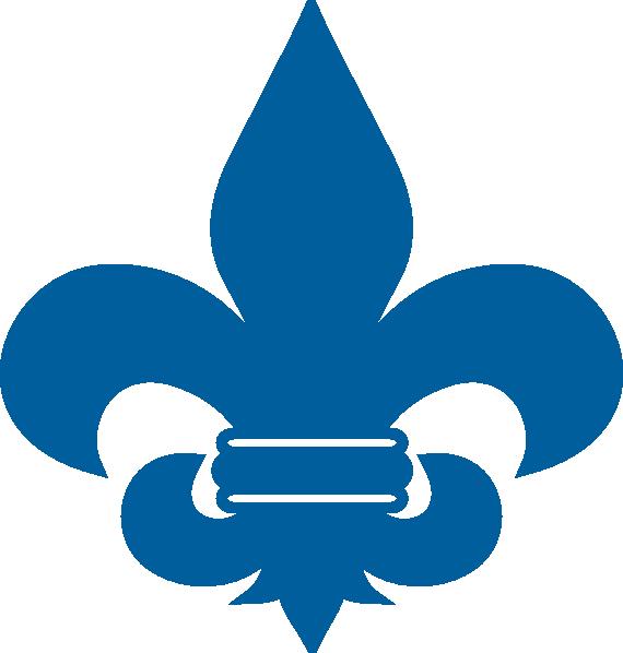 cub scout blue fleur de lis clip art at clker com vector clip art rh clker com cub scout clipart to print cub scout clip art coloring