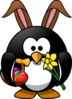 Easter Penguin Clip Art