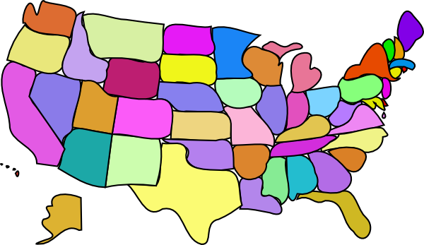 clip art map united states - photo #26