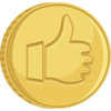 Thumbs Up Gold Coin Clip Art