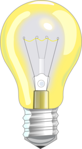 Light Bulb On Clip Art
