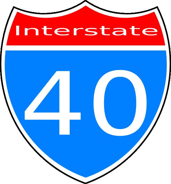 Interstate 40 Sign Clip Art at Clker.com - vector clip art ...