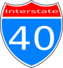 Interstate 40 Sign Clip Art