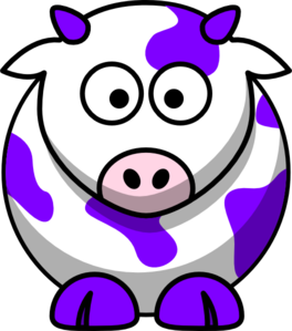 Purple Cow Clip Art