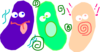 Jelly Beans Blue Green Pink Clip Art