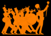 Orange & Black Marching Band Clip Art