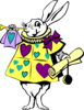 White Rabbit 3 Clip Art