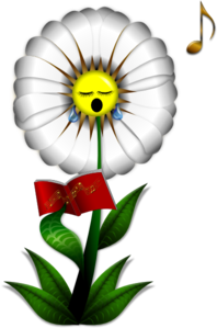 Flower Singing Clip Art