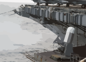 An Close-in Weapons System (ciws) Is Being Fired For Training Aboard The Nuclear Powered Aircraft Carrier Uss George Washington (cvn 73). Clip Art