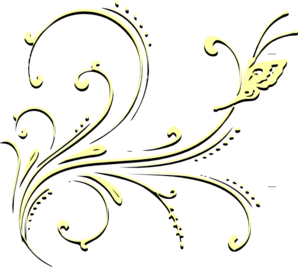 Yellow And Black Butterfly Clip Art