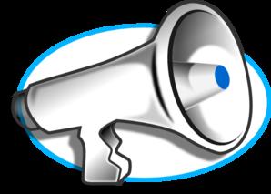 Megaphone With Blue Oval Clip Art at Clker.com - vector clip art ...