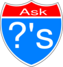 Ask Questions Interstate Sign Clip Art