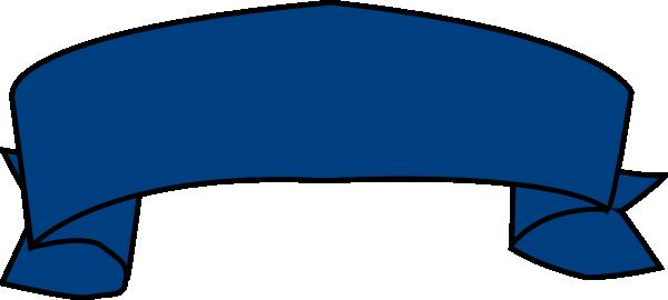 Banner blue. Clip art at clker