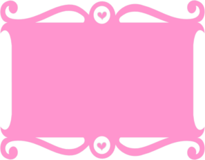 Frame Pink Heart Clip Art at Clker.com - vector clip art online, royalty free & public domain