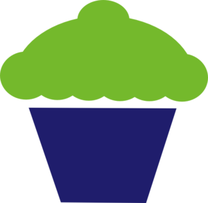 Cupcake Green And Blue Clip Art