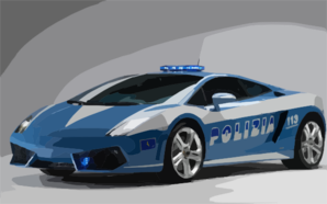 Lamborghini Gallardo Lp Police Car Wide Clip Art