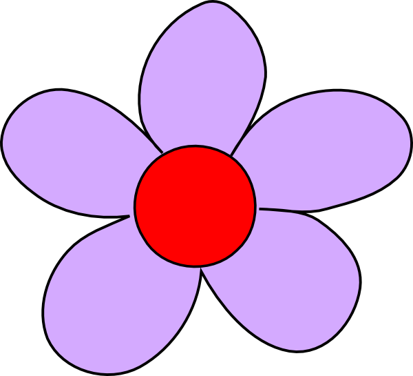 Light Purple Flower Clip Art at Clker.com - vector clip ...