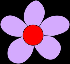 Light Purple Flower Clip Art
