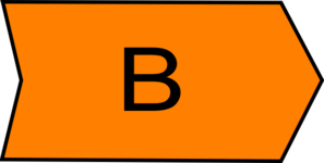 Arrow With An B Orange Clip Art