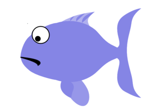 Blue Sad Fish Clip Art