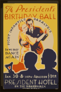 The President S Birthday Ball  So We May Dance Again  Fight Infantile Paralysis. Clip Art