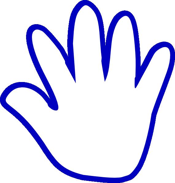 Blue Cartoon Hand Clip Art at Clker.com - vector clip art online ...