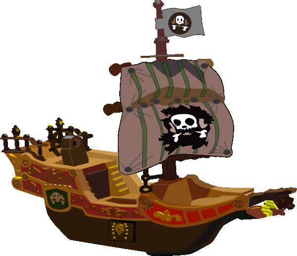 Pirate Ship Clip Art at Clker.com - vector clip art online ...