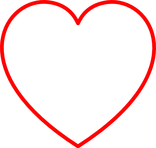 Gray Heart With Red Outline Clip Art at Clker.com - vector ...